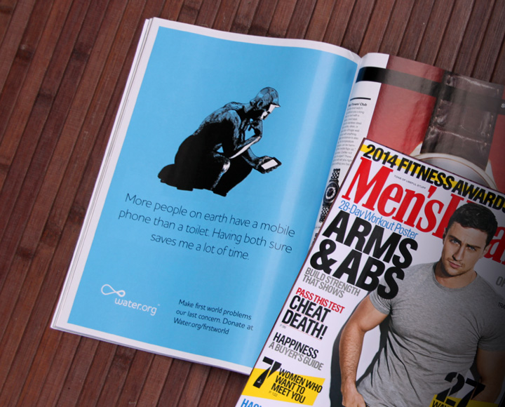 Illustration and print ad design appeared in many publications, including Men's Health.