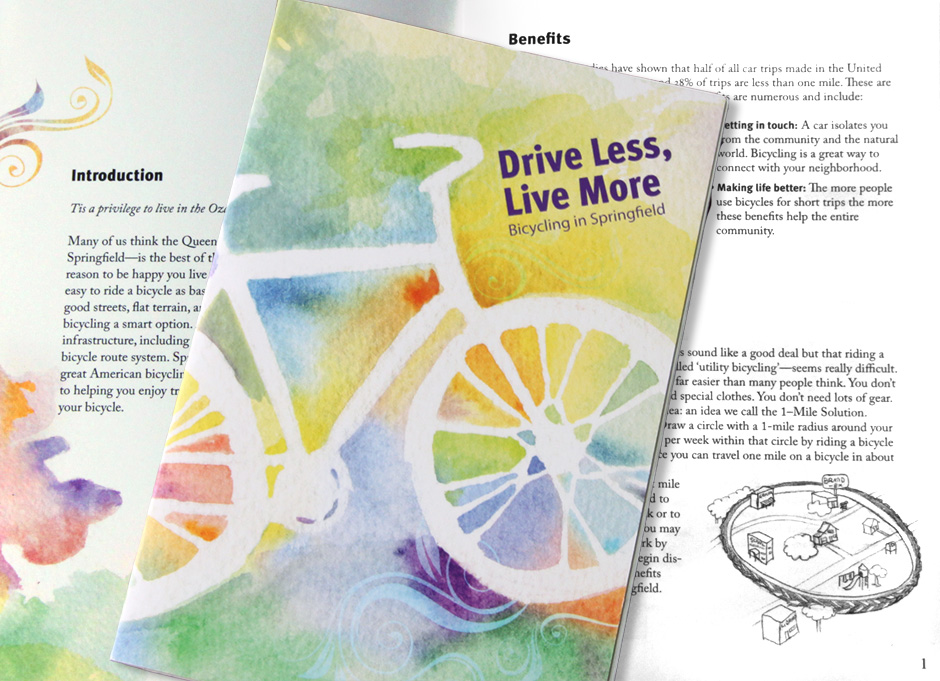Booklet cover and interior spread
