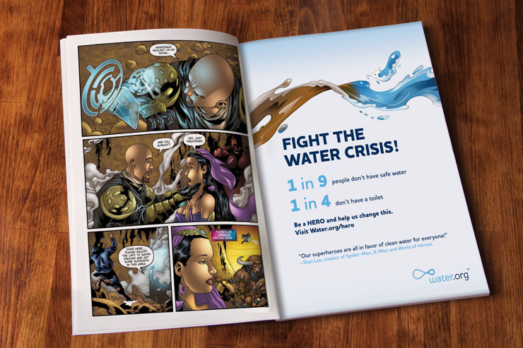 Illustration and design of full page ad in Marvel Next-Gen comic series